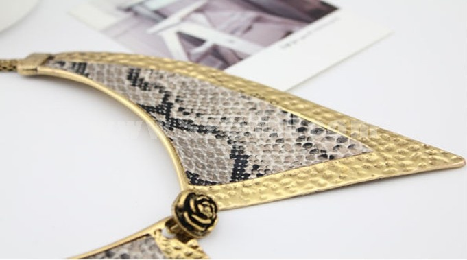 Snake Skin Texture Personalized Alloy Collar (TF42)