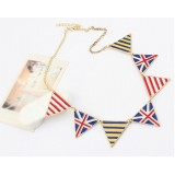 Wholesale - Vintage Faddish Triangle National Flag Necklace (TF39)