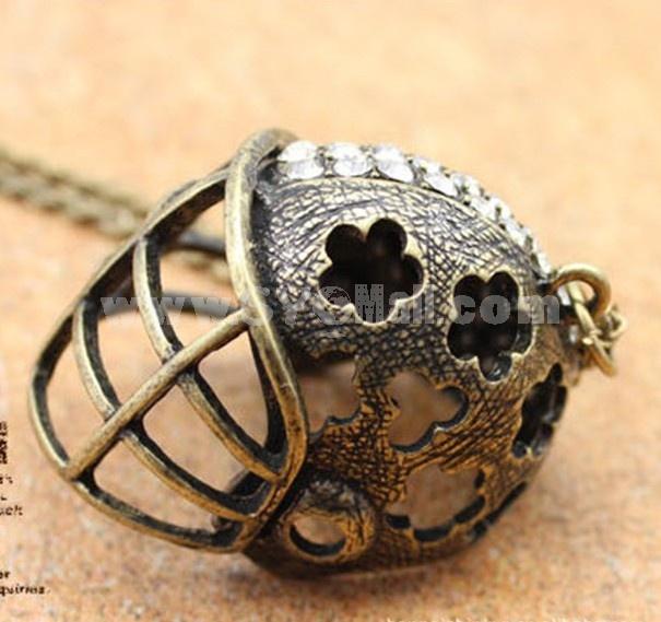 Stylish Gold Helmet Necklace (TA75)