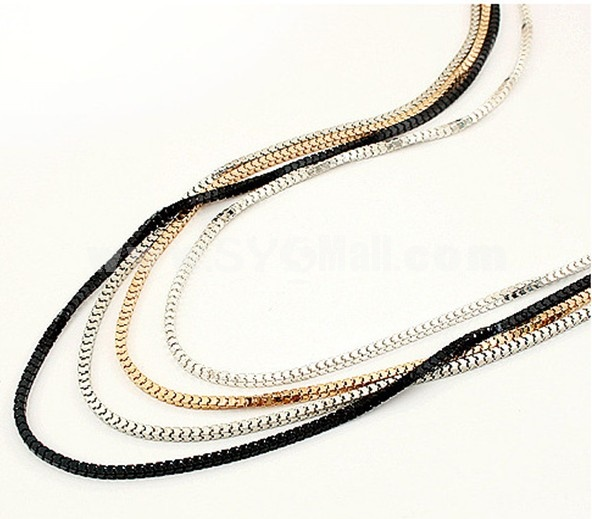 Vintage Multilayed Alloy Necklace (TB267)