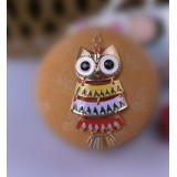 Wholesale - Korea Colour Owl Sweater Chain (T0141)