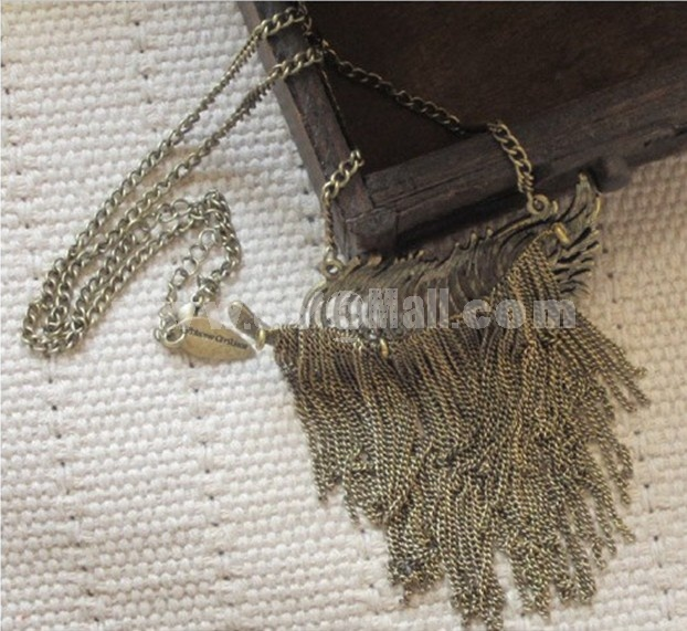 Leaf Tassels Alloy Sweater Chain