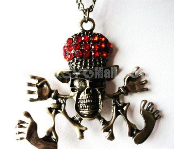 Vintage Skull Alloy Sweater Chain (TA48)