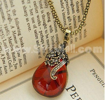 Hot Sale Korea Hollow Carve Rhinestone Necklace
