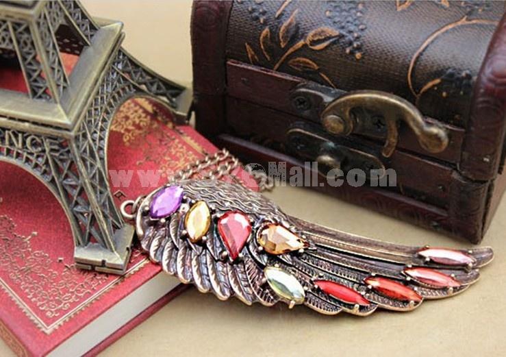 Vintage Angel Diamonds Necklace (TF154)