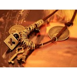 Wholesale - Korea Vintage Pyramid Key Multielement Necklace (TFS0071)