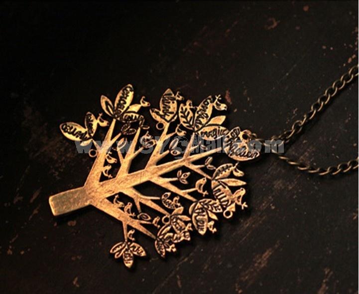 Vintage Christmas Tree & Letter Necklace (TK112)