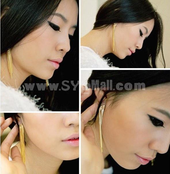 Stylish Tassels Long Pattern Earring (TSS0059)