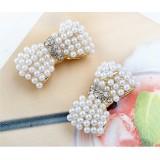 Wholesale - Hot Sale Shiny Diamonds Bowknot Alloy Earring