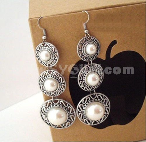 Vintage Natural Style Hollow Alloy Earring