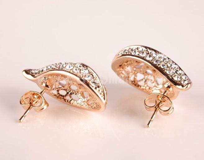 Korea Diamonds Exquisite Leafbud Earring