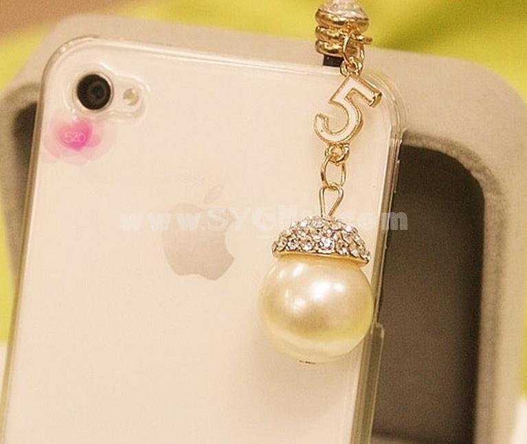 TF175 Korean Style Pearl Dustproof Cellphone Pendants