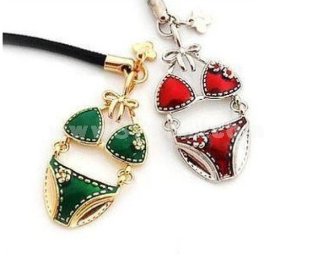 TB123 Korean Style Bikini Design phone chain/ cellphone pendants