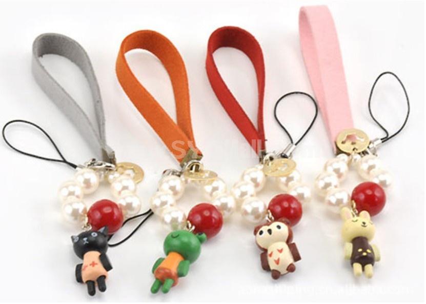 TS159 Fashion Leather phone chain/ cellphone pendants