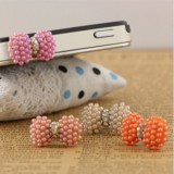 Wholesale - TV021 Fashion Pearl  Bowknot Design Dustproof phone pendants