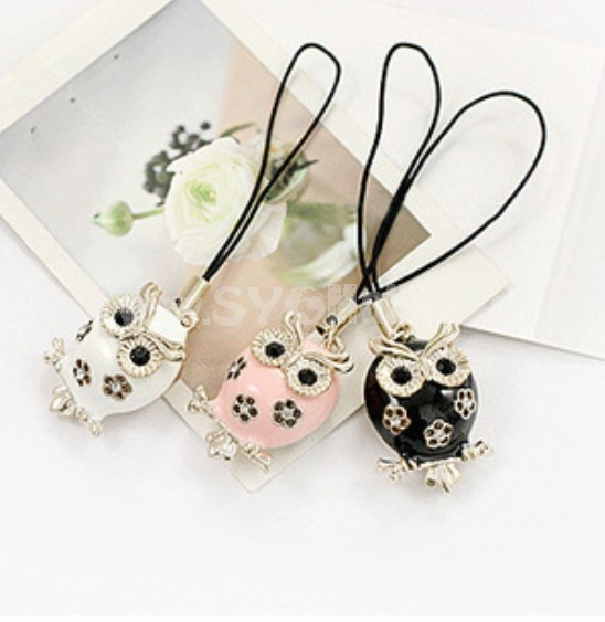 TS174 Fashion Owl Design Phone Chains/Cellphone pendants