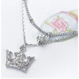 Wholesale - TB518 Elegant Crown Design Diamond Anklets