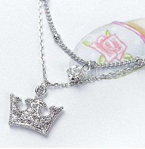 TB518 Elegant Crown Design Diamond Anklets