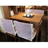 Wholesale - Senhot Fashion Purple Lattice Pattern Cotton Dining Chair Slipcovers set