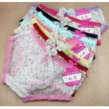 Wholesale - Women's Sexy Mesh & Lace Seamless Low Waist Brief/Panties