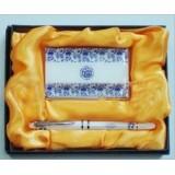 Wholesale - Blue and white porcelain pen + card case