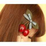 Wholesale - TC34 Adorable Bowknot Hair Clip With Cherry
