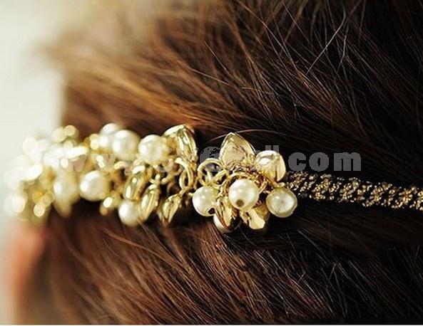 TK079 Korean-style Shining  Pearl Headband