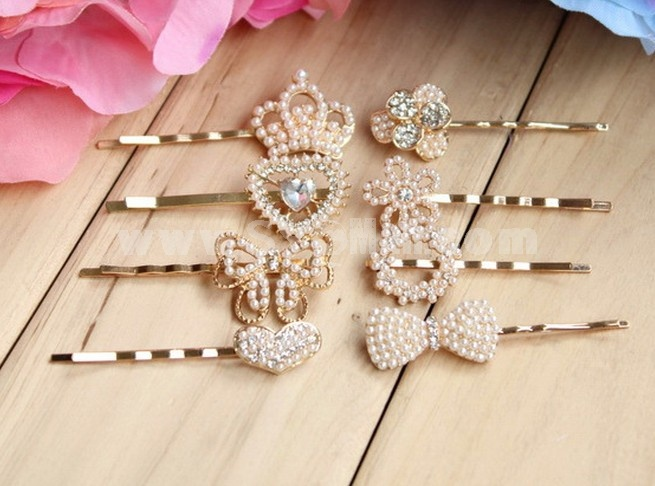 TF111 Korean-style Crown Pearl Hairpin