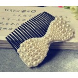 Wholesale - TFS0078 Korean-style Bowknot Pearl Hair Clip/ Comb