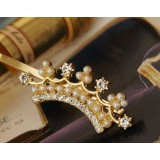 Wholesale - TB09 women's Elegant Crown Hairpin With Pearl