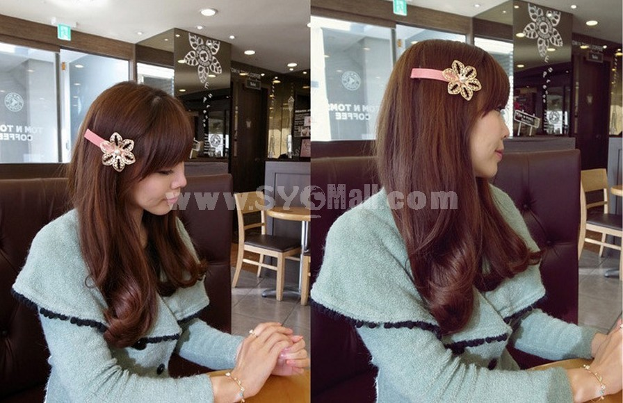 T0111 Korean-style Alloy Hollow Flower Hair clip