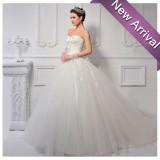 Wholesale - MTF Strpless Korea A-line Sweetheart Lace Princess Ball Gown Wedding Dress S613