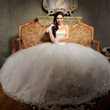 Wholesale - MTF Luxurious Palace Strapless off-shoulder Ball Gown Princess Wedding Dress S9099