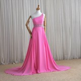 Wholesale - MTF One Shoulder Glamorous Waistband Empire A-line Party Dress F811