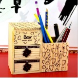 Wholesale - Cute & Creative Asian 2-tier Bear Pencil Holder/Storage Box with Drawers