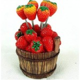 Wholesale - Creative Kitchen Goods Strawberry Resin & Stainless Steel Fruit Fork