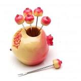 Wholesale - Creative Kitchen Goods Pomegranate Resin & Stainless Steel Fruit Fork