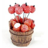 Wholesale - Creative Kitchen Goods Lychee Resin & Stainless Steel Fruit Fork