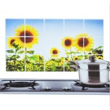 Wholesale - Kitchen PVC Durable Sunflower Style Oilproof Sticker