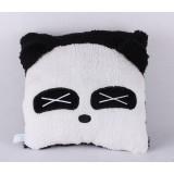 Wholesale - Cartoon Square Face Panda Hand Warming Stuffed Pillow