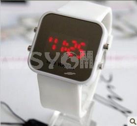 Stylish Korea LED Jelly Mirror Watch