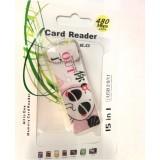 Wholesale - Cartoon Retangle Shape 4-in-1 USB Memory Card Reader