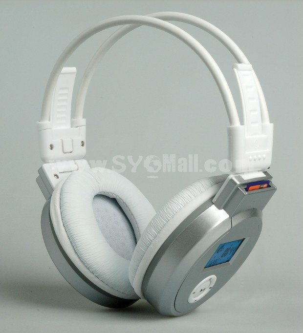Plug-in card designed MP3 FM wireless headphone