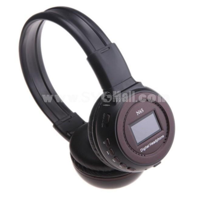 WST-N65 plug-in card designed MP3 FM wireless headphone