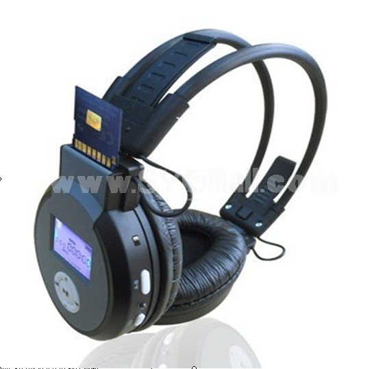 Plug-in card designed MP3 FM wireless headphone EJ-188