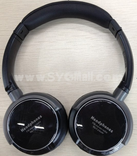 Plug-in card designed MP3 FM wireless headphone 8001+