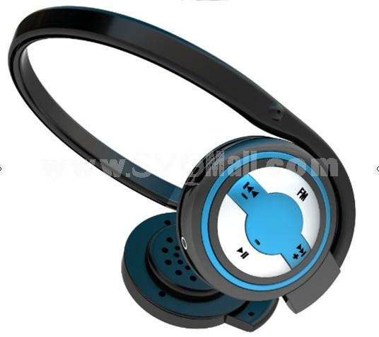 Plug-in card designed MP3 FM wireless headphone R05-2