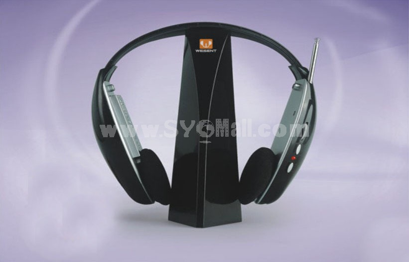 4 in 1 wireless headphone -- Light Blue (WST-125)