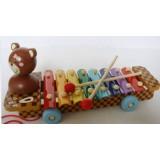 Wholesale - Children Educational Musical Bear - 8 Sound Celesta