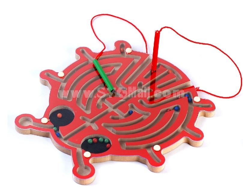 Children Educational Wooden Butterfly Magnetic Maze